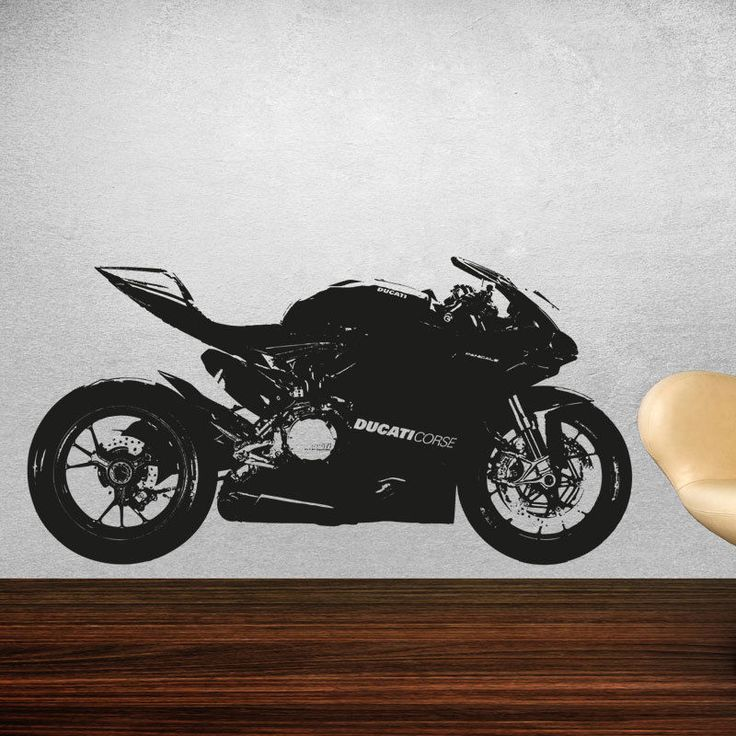 Ducati 1199 panigale moto gp racing motorbike vinyl sticker wall art mb4