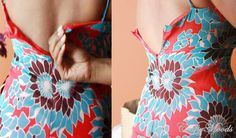 how to alter the back of a dress that is too small to zip up