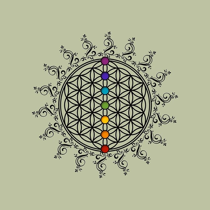 FLOWER OF LIFE, CHAKRAS, SPIRITUALITY, YOGA, ZEN,   Bolsa de tela