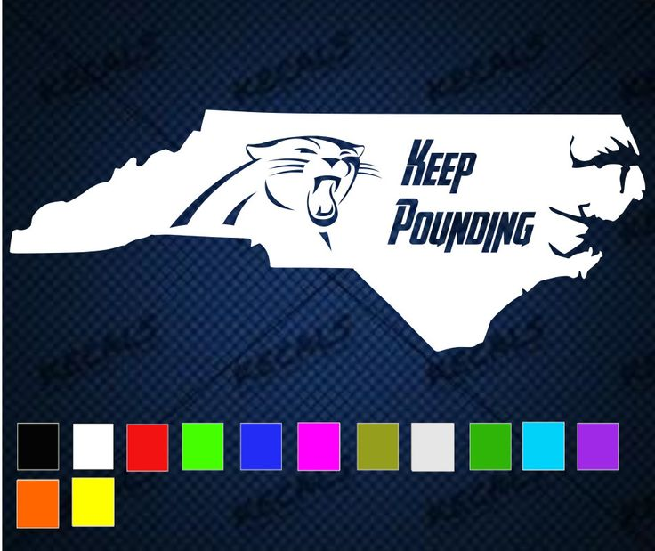 Carolina panthers north carolina keep pounding decal choose color and size by kecalsdecals on