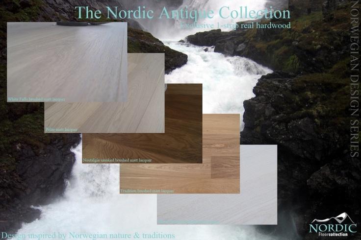 Parkett Nordic Eik Antikk «White-Falls» børstet mattlakk.BESTSELGER! - Norges Beste GulvDeal