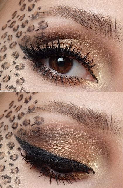 Pretty Leopard Makeup – Adjusting Beauty