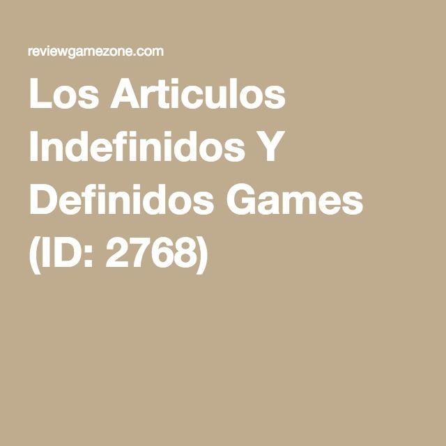Los Articulos Indefinidos Y Definidos Games (ID: 2768)