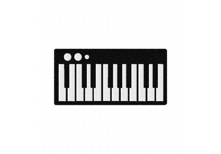 MusicalKeyboardXXX  Embroidery Design Sizes: 2.5″ 3″ 3.5″ 4″ 4.5″ 5″ & 5.5″