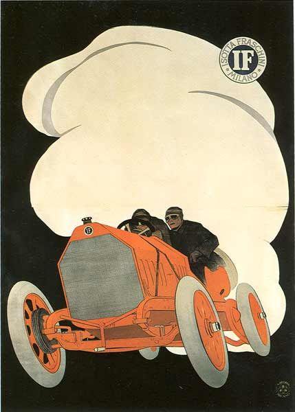 rik-bside:  Leopoldo Metlicovitz   Isotta Fraschini 1911 cm. 140...