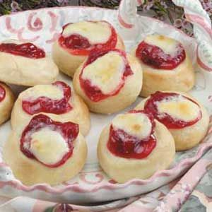 Cherry Cream Cheese Kolaches... If these come anything close to the ones in West, Texas, I will be making them alot! :)