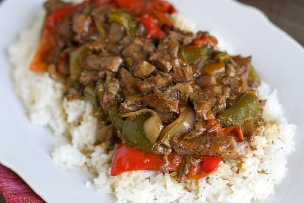 It's been so long since I've made Pepper Steak in the slow cooker! I never remember exactly how I made it the time before