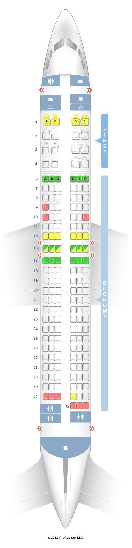 SeatGuru Seat Map Alaska Airlines Boeing 737-800 (738) V1
