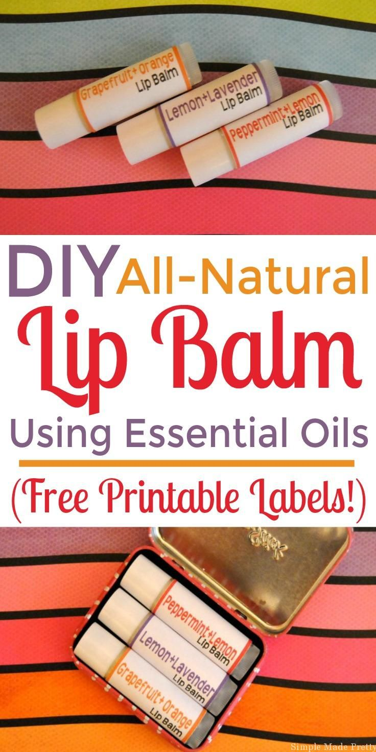 If you are looking for an easy beauty DIY or handmade gift idea, you must try making All-Natural Lip Balm with Essential Oils! Gift ideas, handmade gift, DIY gift, holiday gifts, free printable, Essential oils