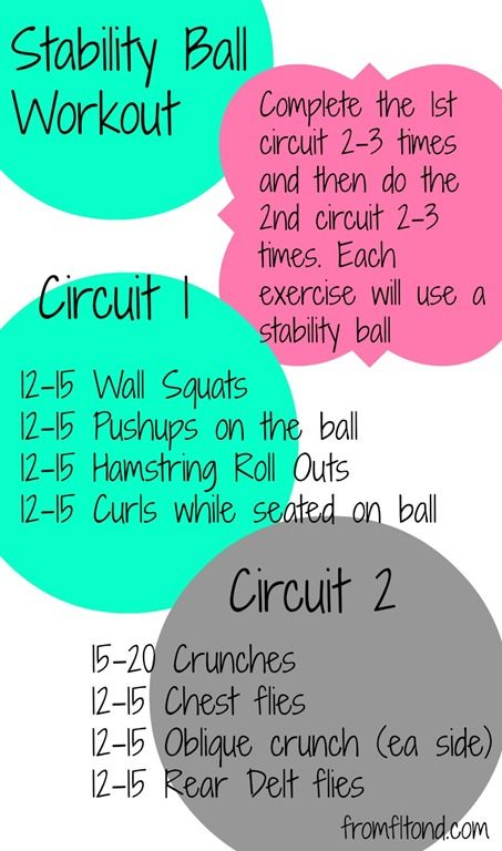 If youre weak on balance moves and need extra support, this stability ball circu