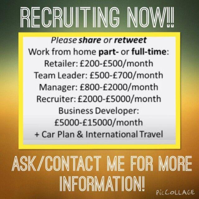 Forever Living Recruitment contact me 01302 376095 or visit www.foreverliberty.myforever.biz