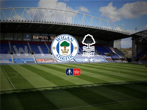 Live coverage of Nottingham Forests Emirates FA Cup third-round tie against Wigan Athletic at the DW Stadium
