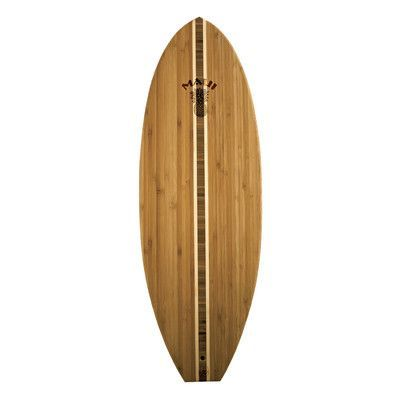 Totally Bamboo Tropical Surf Board with Maui Logo Cutting Board