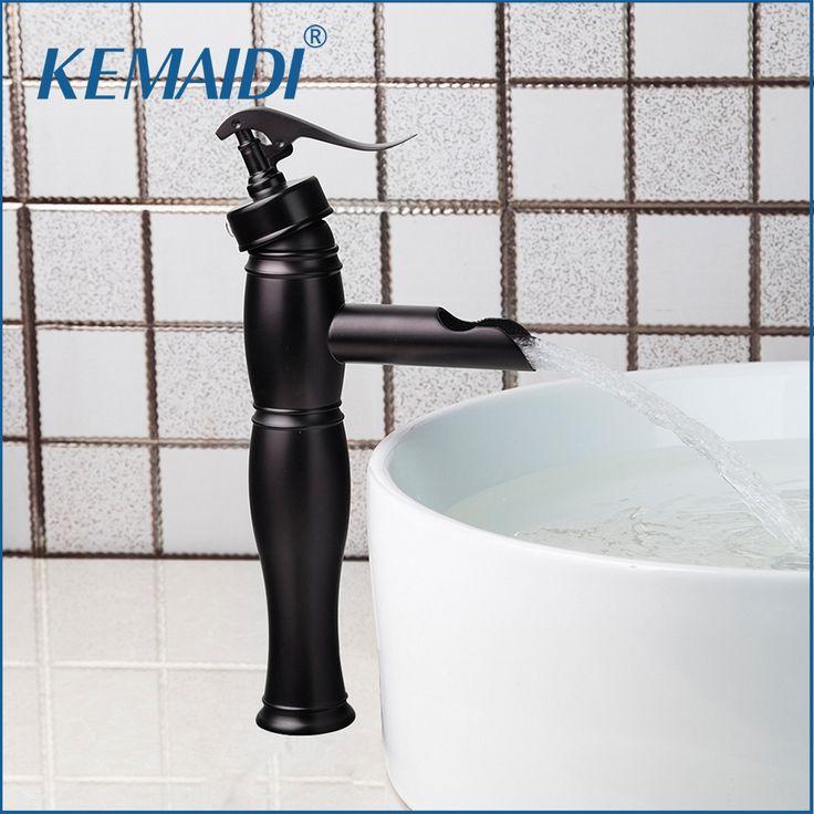 KEMAIDI New Arrival Wholesale&Retail Bathroom Faucet Deck Mounted Bamboo Shape Basin Sink Faucet ORB Black Bathroom Mixer Tap