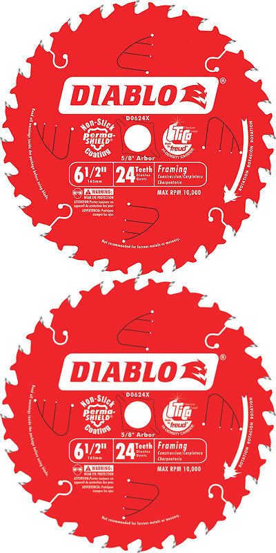 Saw Blades 122837: Diablo Framing Saw Blade-6 1 2In X 24T For Wood