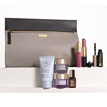 Estee Lauder 8 Pieces Skincare Makup Gift Set with a Sleek Cosmetics Bag Nordstrom Exclusive Review