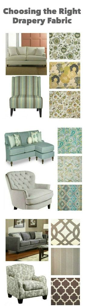 Choosing the right drapery fabric from JenniferDecorates.com