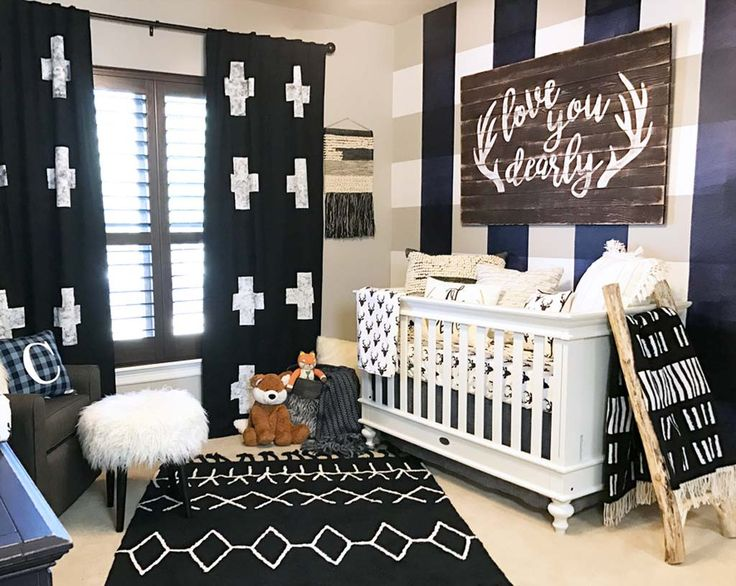 Baby Boy Buffalo Check Plaid Nursery