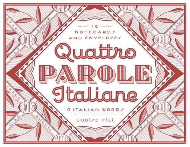 Louis Fili - Quattro Parole Italiane Notecards :: Princeton Architectural Press