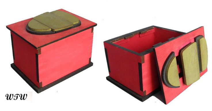 Black & Red Shield Box Designed by B.Vinney Made by W.Ware