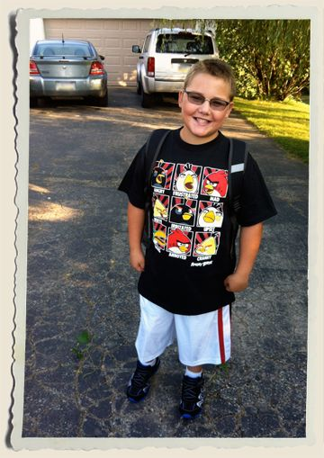 First day of 6th grade…his fashion sense hasn't gotten any better ...