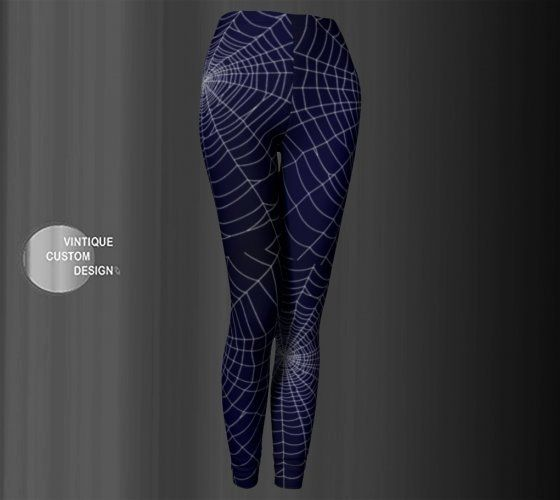 b7b7a35413841 COBWEB LEGGINGS Spiderweb Womens Yoga Pants Spider Web Goth Leggings ...