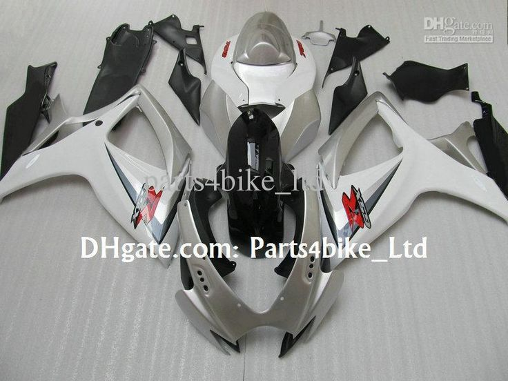(409.20$)  Watch now - http://ainid.worlditems.win/all/product.php?id=32299744077 - Injection mold,custom motoryclcle kit white silver fairing kit for 2006 2007 SUZUKI GSXR 600 fairings GSXR 750 K6  06 07 gsxr750