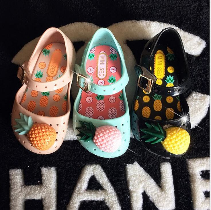 Cheap sandal supplier, Buy Quality sandals yellow directly from China sandal leather Suppliers: new jelly shoes children mini Melissa kids baby sandals hollow jelly shoes pineapple Baby Shoes girls fashion beac