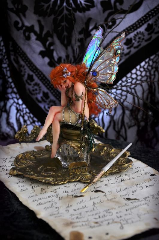 She makes me think of a writer's block fairy ... wonder of she could help ... SutherlandArt.deviantart.com #fairy