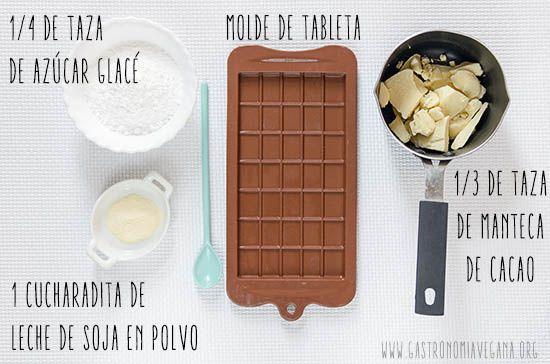 Cómo hacer chocolate blanco vegano | Gastronomía Vegana