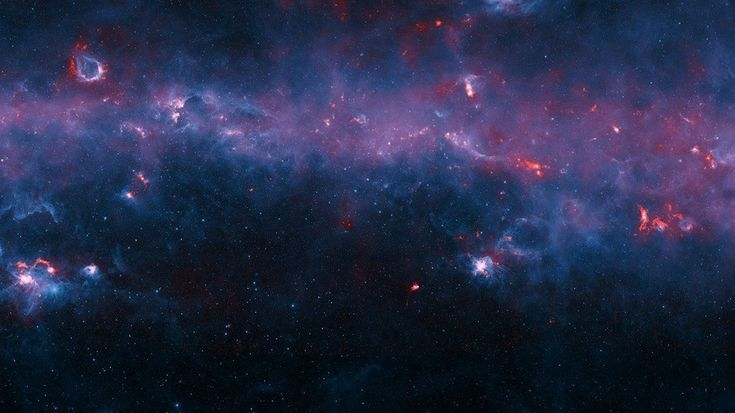 Mapa cósmico mostra as nuvens de gás da Via Láctea