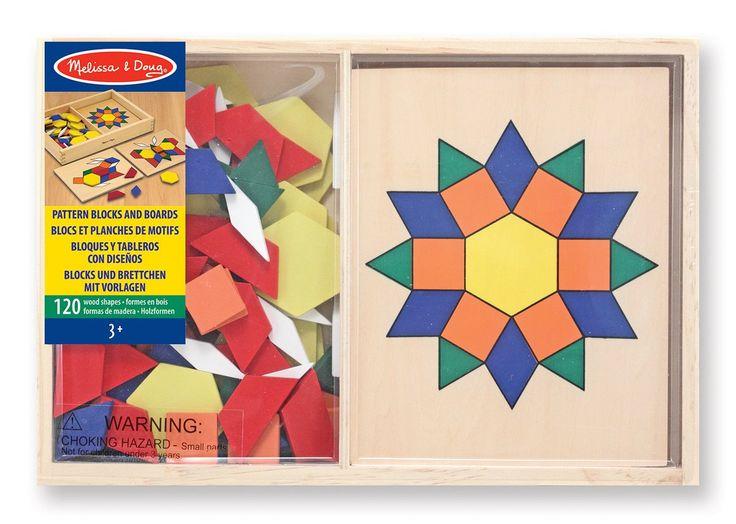 Melissa & Doug Pattern Blocks and Boards: Amazon.co.uk: Toys & Games
