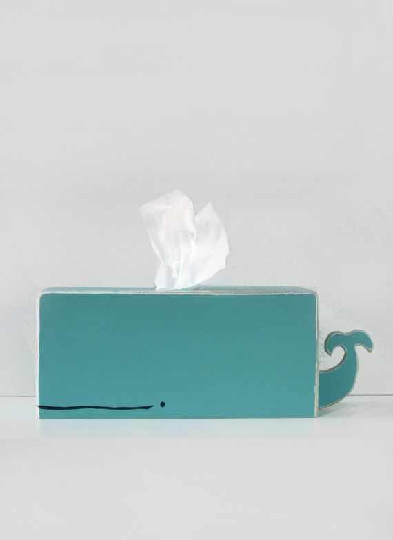 To cheer up your pal with allergies: a whale tissue holder.