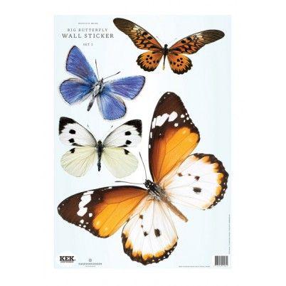 Butterfly set 2 - muurstickers - Wonen