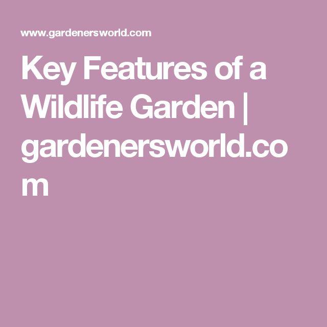 Key Features of a Wildlife Garden   gardenersworld.com