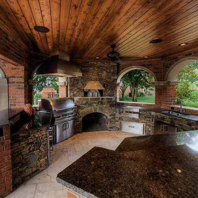 Outdoor Kitchen Grill Gazebo