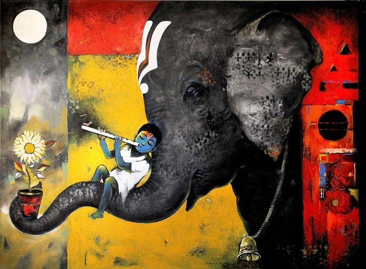 Suresh Gosavi | Paintings by Suresh Gosavi | Suresh Gosavi Painting - SuchitrraArts.com