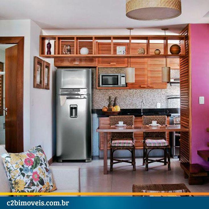 Dica de decoração para pequenas e coloridas cozinhas.