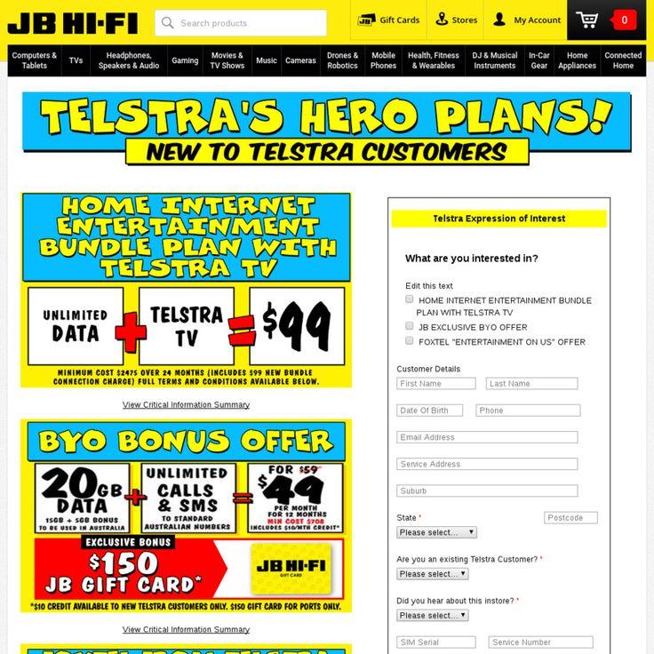 New Customers Telstra BYO Plan 20GB Data + Unlim Calls
