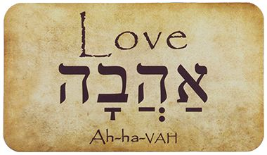 Love Ahava Hebrew Message Card. Learn more about Hebrew at: http://olivepresspublishing.org/hebrew.html