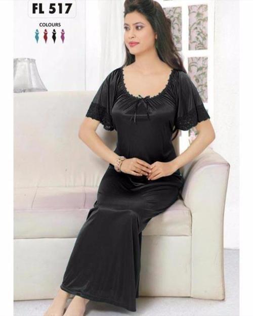 Flourish Long Silk Nightwear - FL-517 - Nighty - diKHAWA Online Shopping in  Pakistan e49c68906