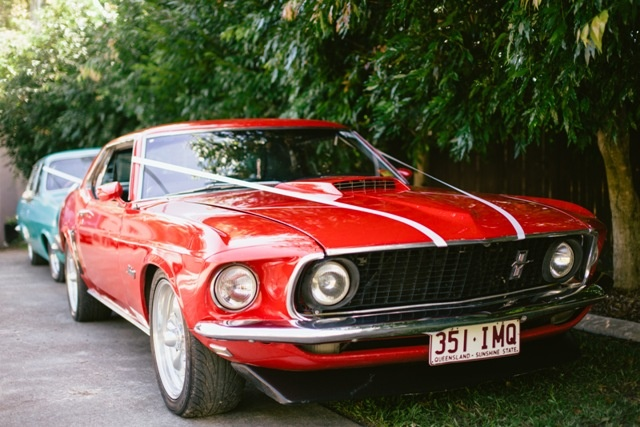 Vintage Wedding Car.  Photography by Artography.  Fox Wedding in Maleny | The Bride's Tree - Sunshine Coast Wedding