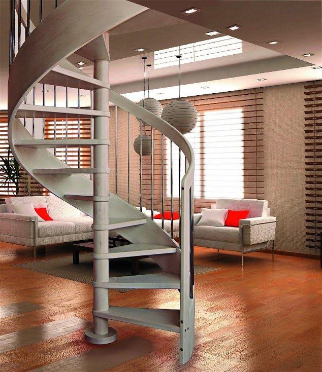 Ametista scale a chiocciola in legno pianta tonda scale - Scale design interni ...