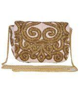 Diwaah Gold Embellished Clutch. Just for 1499/-