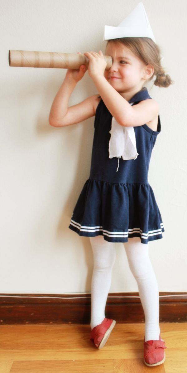 DIY Sailor Halloween Costume plus many others made from clothing and items around the house....(halloween? How about Tuesday..)