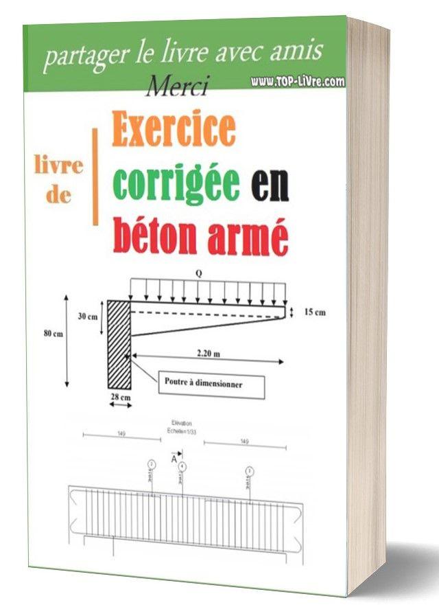 Beton Arme Exercice Corrige Bael Top Livres Construction Documents Civil Engineering Autocad