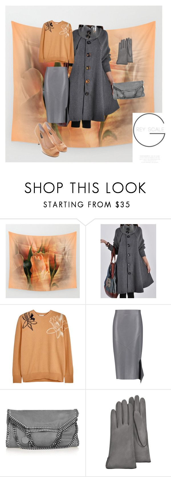 """""""Grey Scale"""" by scope-stilettos ❤ liked on Polyvore featuring WithChic, Demylee, Jil Sander, STELLA McCARTNEY, Forzieri and Dolce&Gabbana"""
