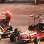 Jeff Gordon and his Mother practicing when he was little (JeffGordonWeb) on Twitter