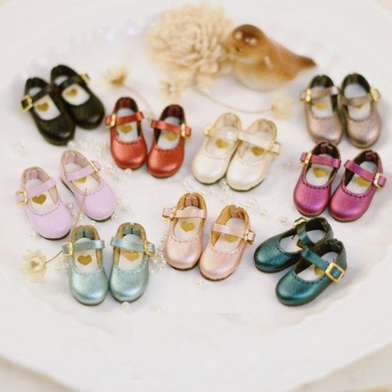 Blythe Ankle Strap Pearl Colors Shoes | Blythe shoes | Doll Shoes | Licca , AZONE 1/6 S, Lati Yellow or Pukifee