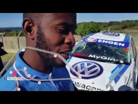 Kuda Vazhure crash in his VW Engen Polo Cup - YouTube